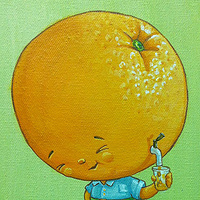 Acrylic painting Orange Juice by Cindy Scaife