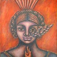 Acrylic painting Creative Soul on Fire by Emily K. Grieves