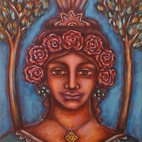 Acrylic painting The Muse of Peace by Emily K. Grieves
