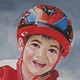 Oil painting Arjun's Portrait by Judith  Elsasser