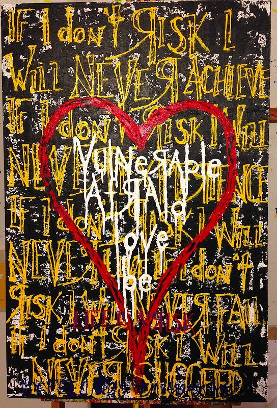 Acrylic painting be love (black) by Jeffrey Newman