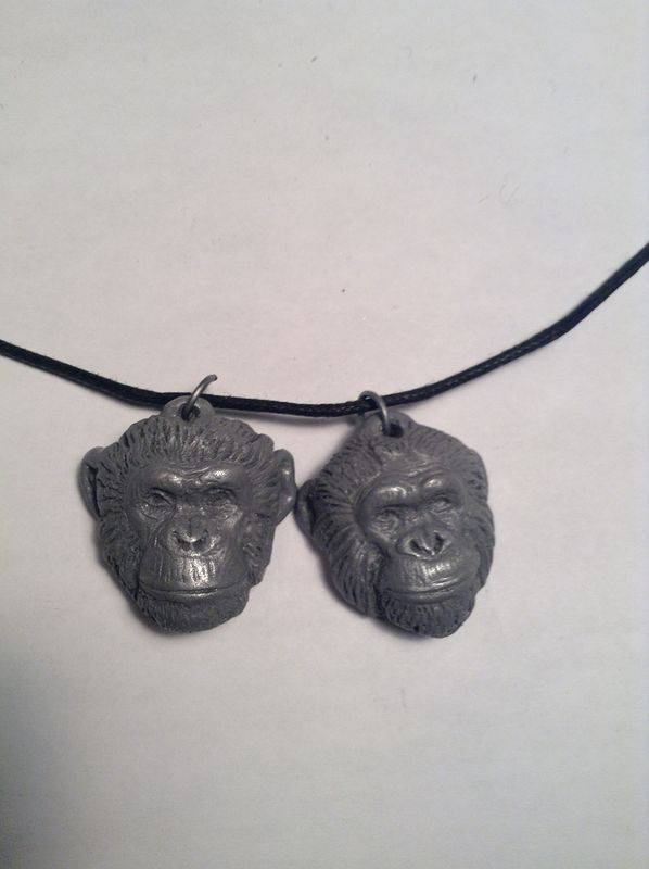 Topo and Herbie chimps inc pendant set by Jason  Shanaman