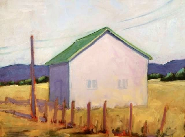 Oil painting Highland Barn-SOLD by Sarah Trundle