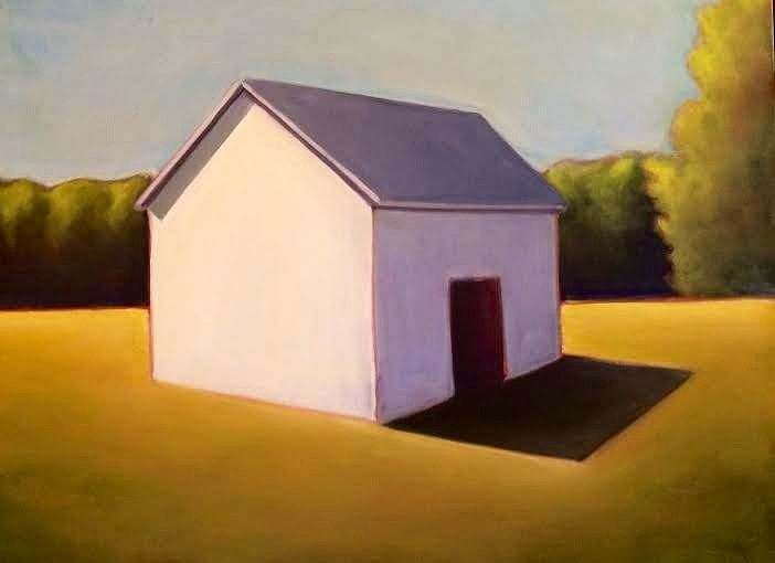 Oil painting Whitehall Barn- SOLD by Sarah Trundle