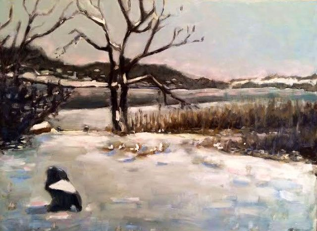 Oil painting Kati's Pond- Commission- SOLD by Sarah Trundle