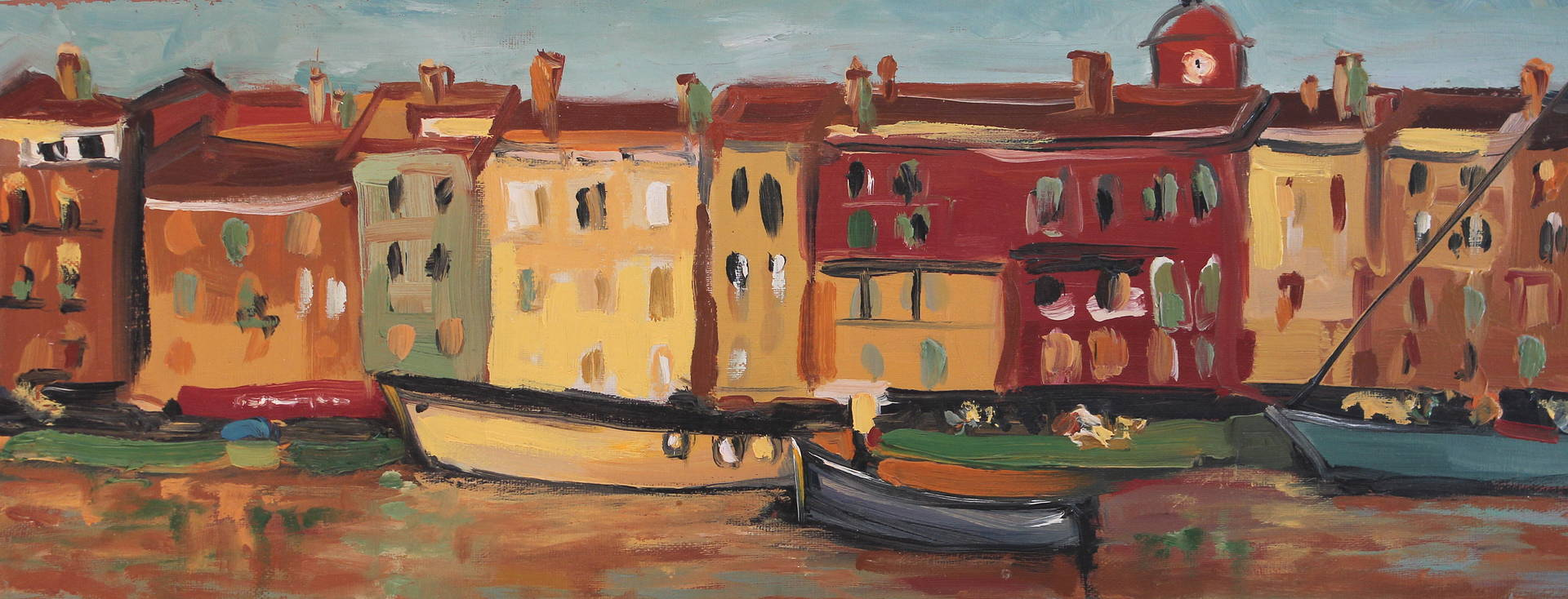 Oil painting St. Tropez by Lisa Printz