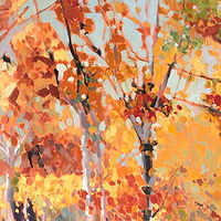Oil painting Kootenay Birches by Lisa Printz