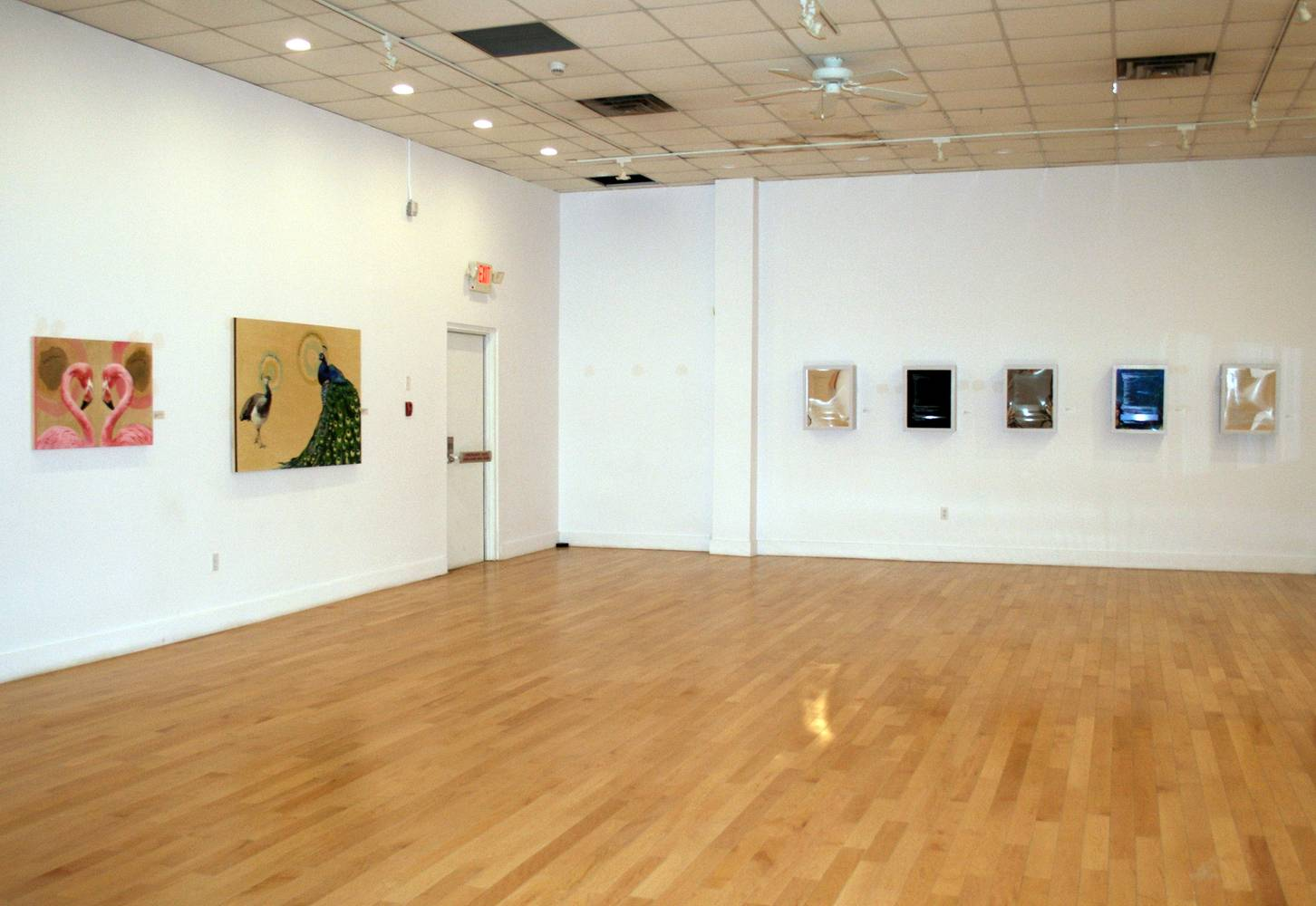 installation view of  I'll show you mine, if you show me yours: Love in the modern age, Estevan Art Gallery and Museum, Estevan Saskatchewan Canada by Belinda Harrow