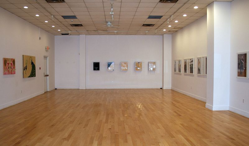 Installation view of  I'll show you mine, if you show me yours: Love in the modern age, Estevan Art Gallery and Museum by Belinda Harrow