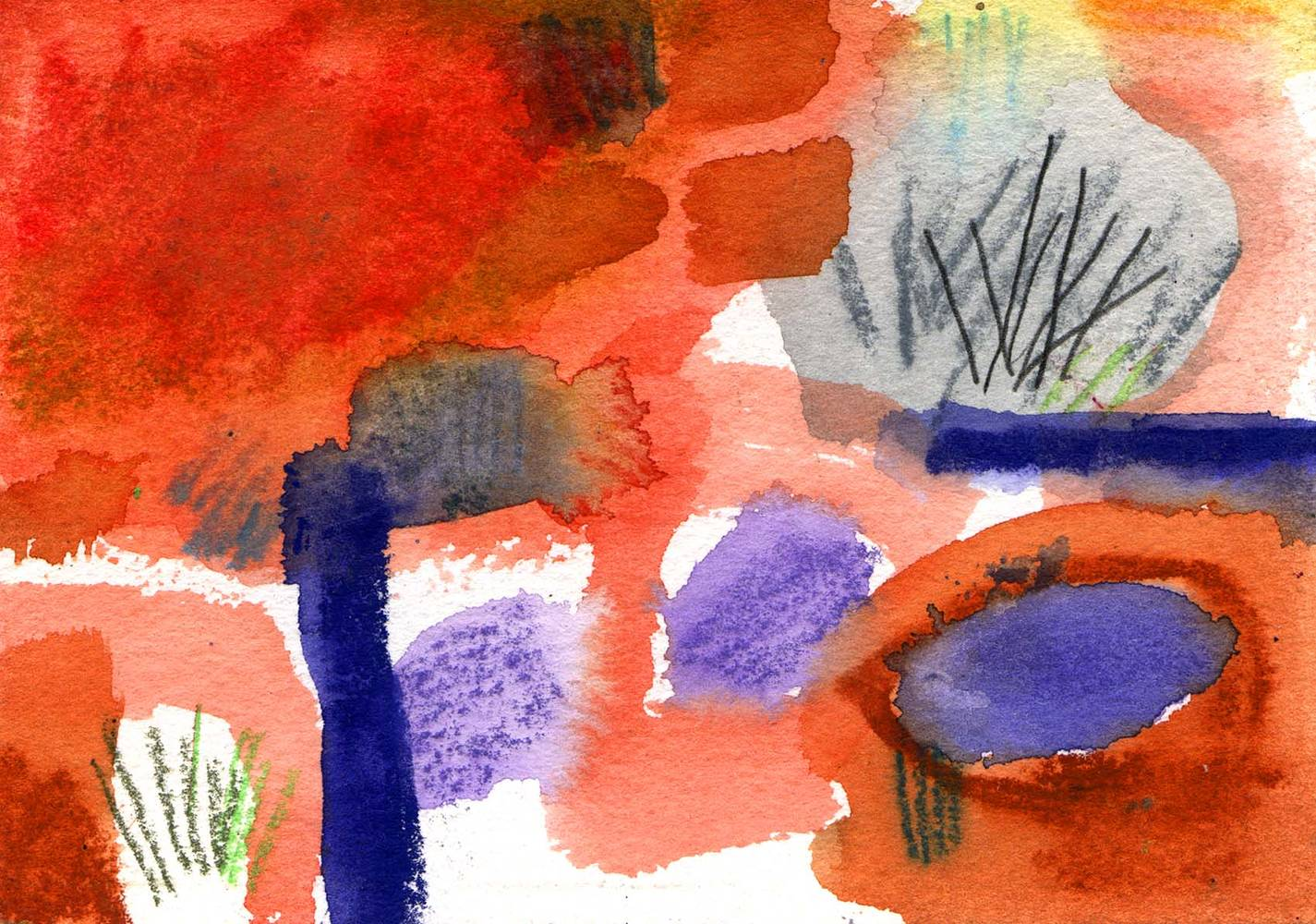 Watercolor Oz: Sacred site 1 by Sarah James