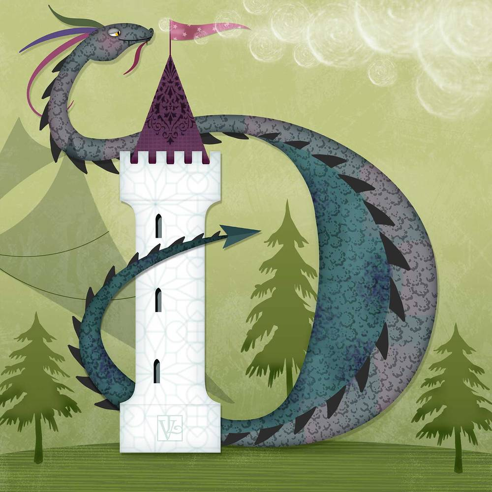 D is for Duncan the Dragon by Valerie Lesiak