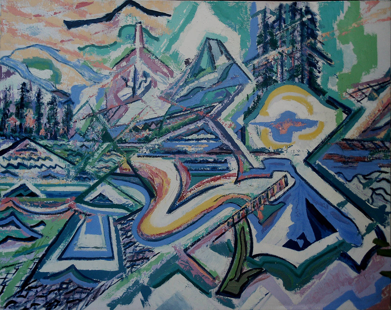Lake of Coheeries in May 1998 48x60 by Jeffrey Fine