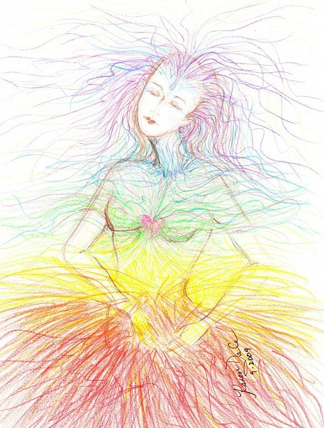 Drawing Chakra Energy by Karen Brodeur