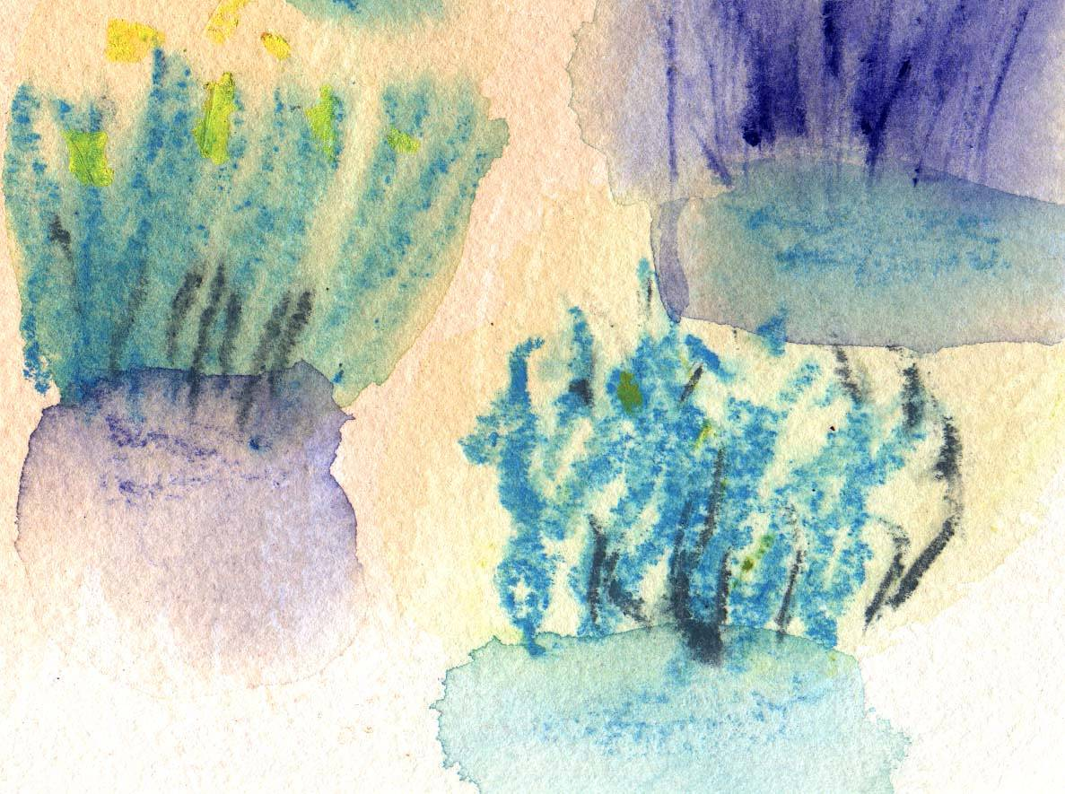 Watercolor Oz: Desert detail by Sarah James
