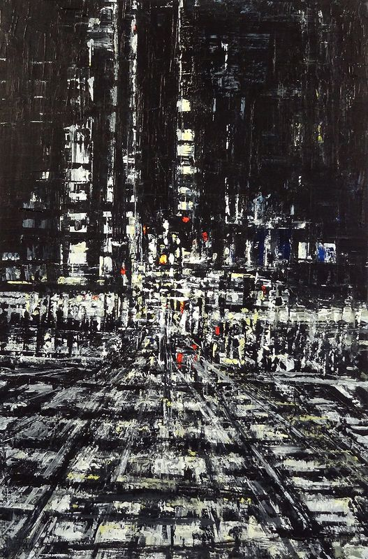 Acrylic painting Urban Rhapsody #19  by David Tycho
