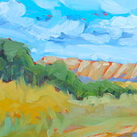 Oil painting Hay sheds III by Lisa Printz