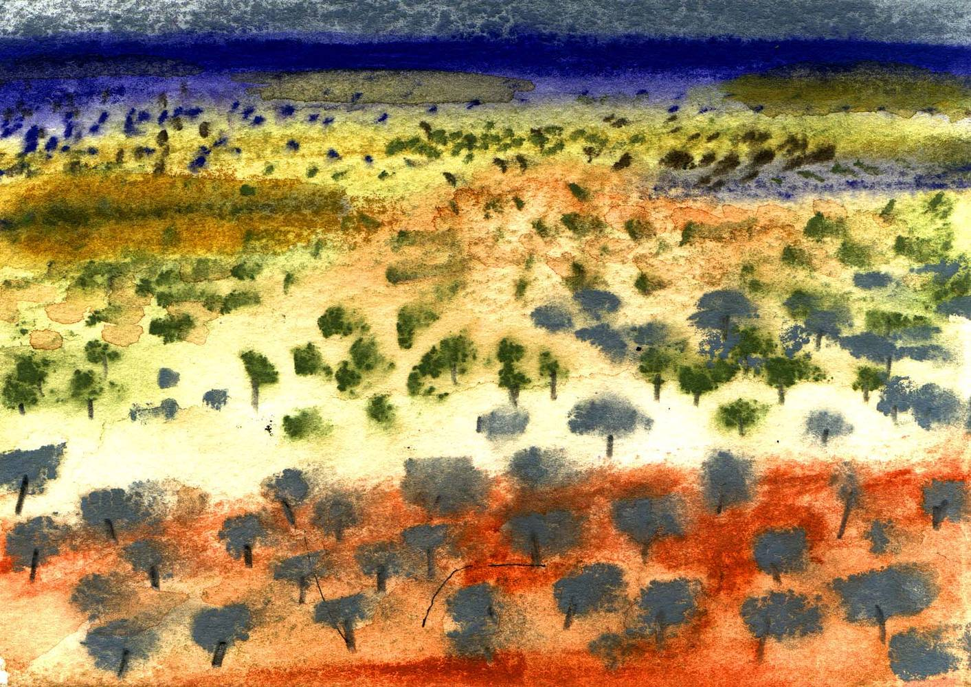 Watercolor Oz: Outback 1 by Sarah James