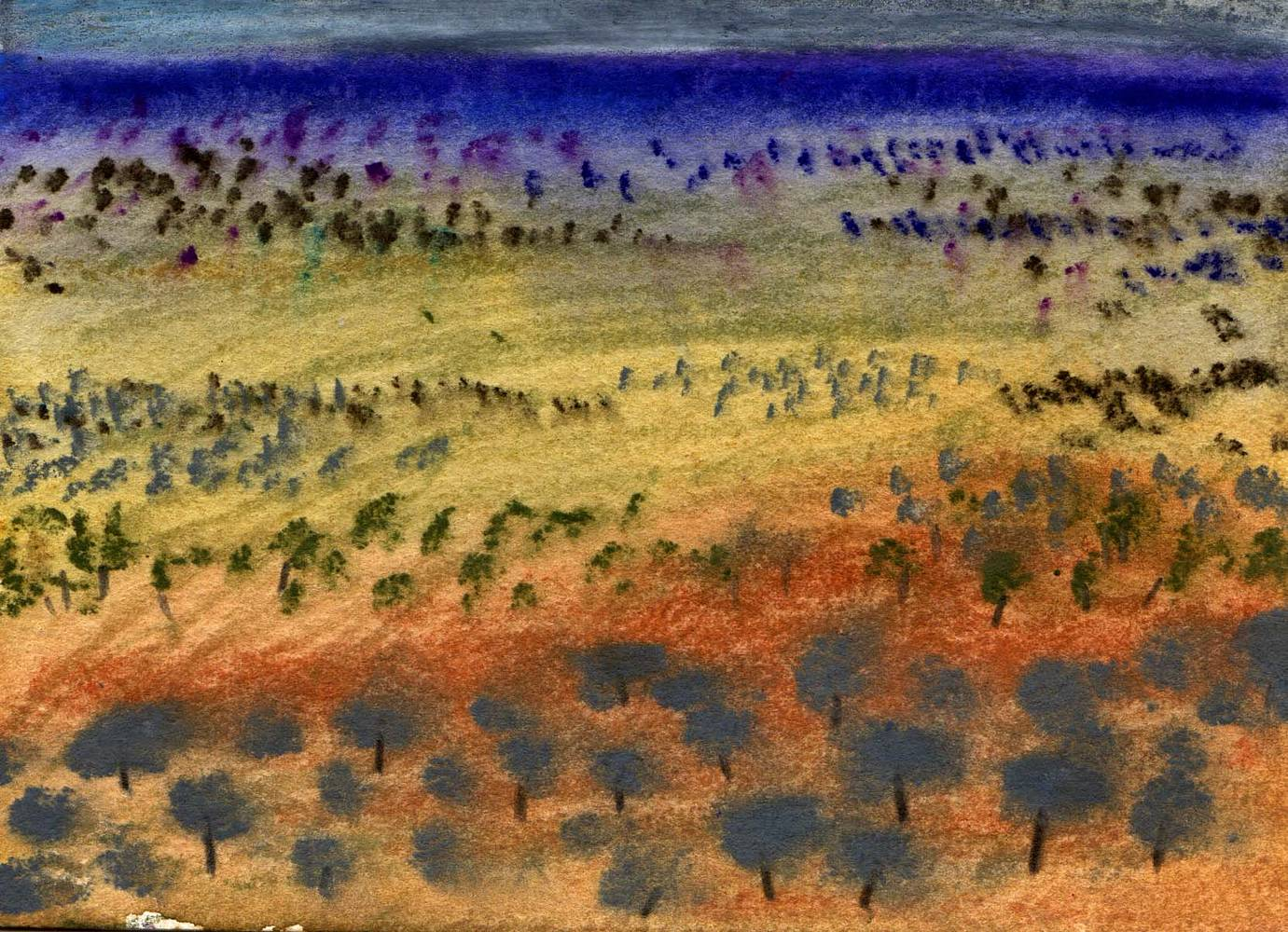Watercolor Oz: Outback 2 by Sarah James