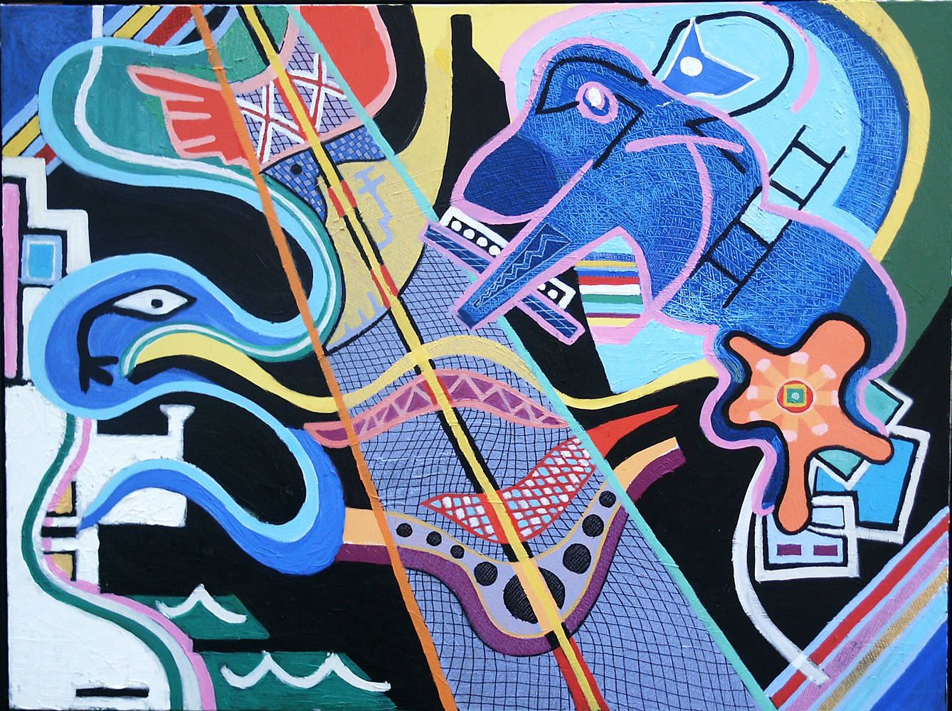Battle For Abstraction 2008 36x48 by Jeffrey Fine