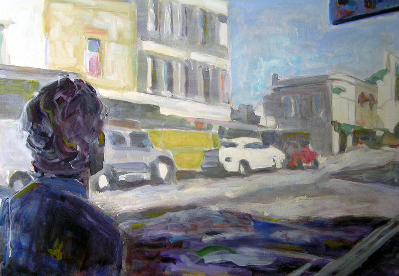 King St Newtown - Oil on Canvas, 96cm x 122cm by Jude Hotchkiss