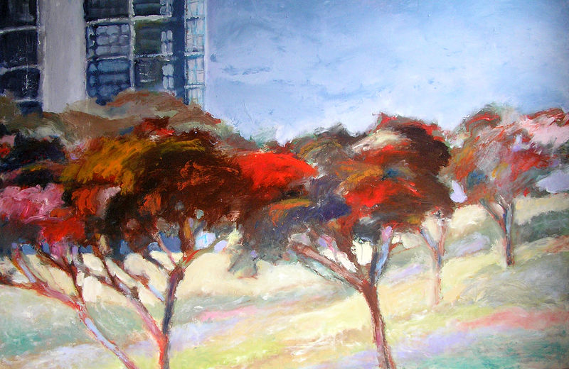 Sydney Park 4 - Oil on Canvas, 96cm x 122cm by Jude Hotchkiss