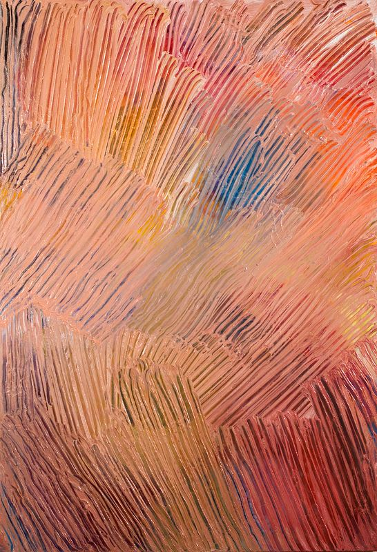 Pink Cascade - Oil and Wax on canvas, 122cm x 84cm by Jude Hotchkiss