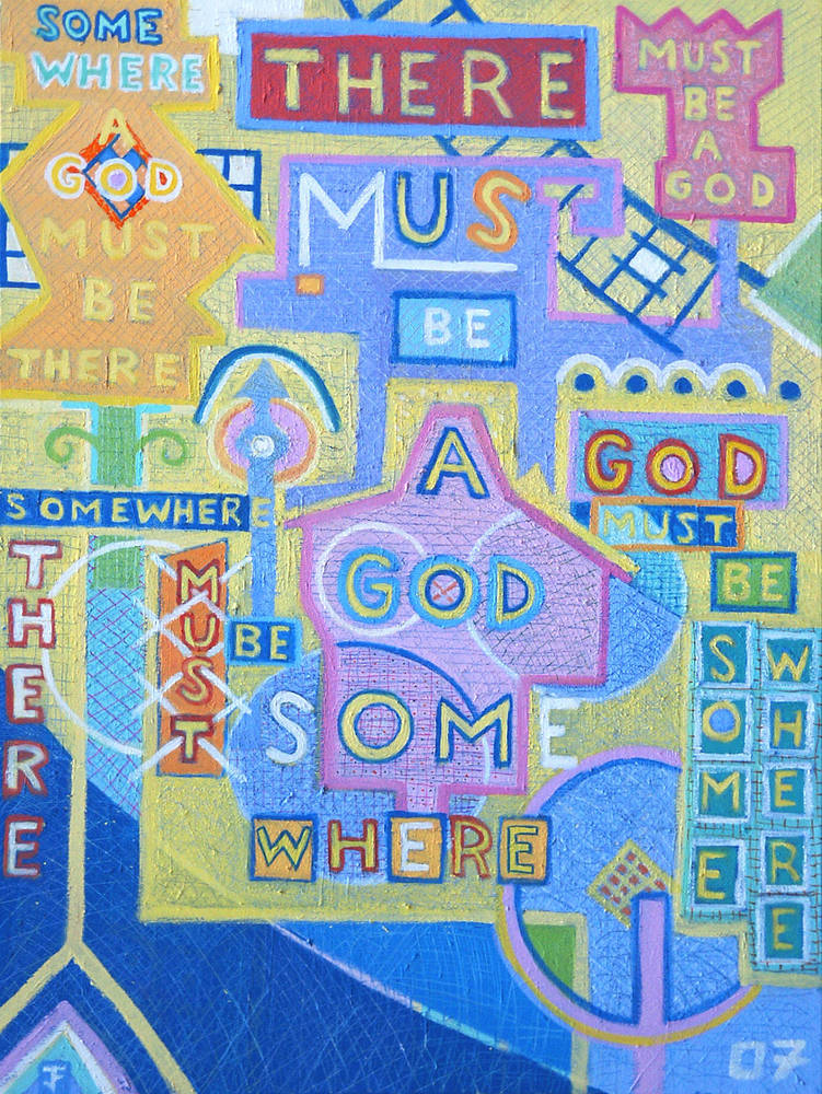 Must Be a God  2007 40x30 by Jeffrey Fine