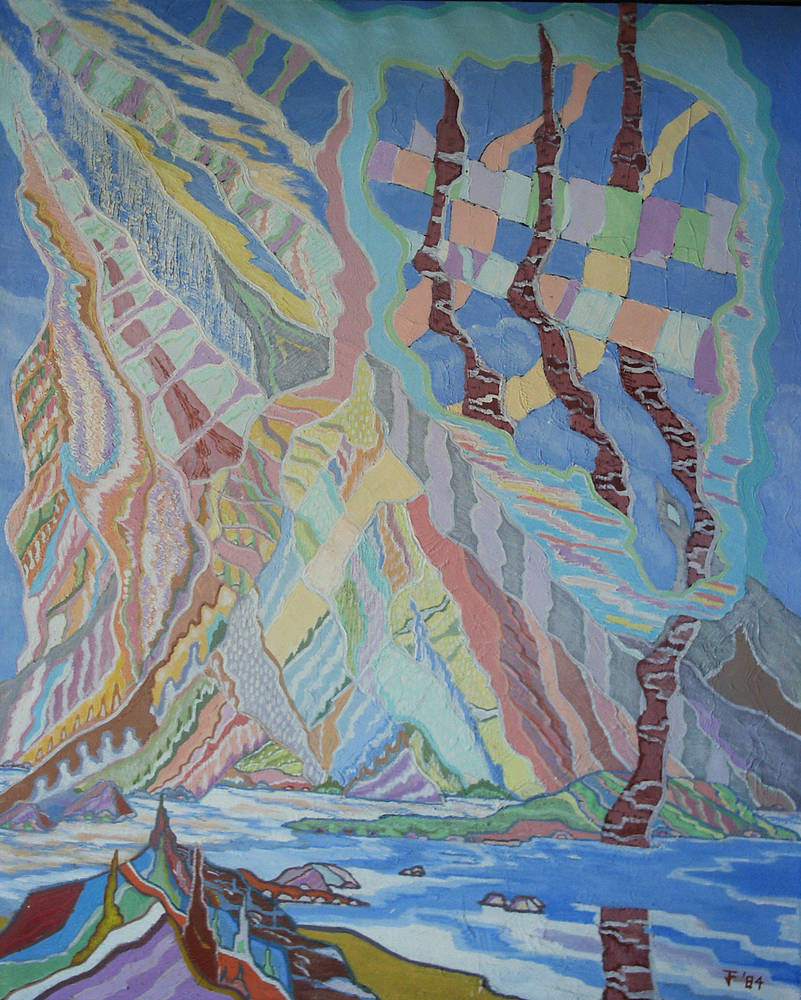 Painting Lake of Coheeries in March 1984 64x52 by Jeffrey Fine