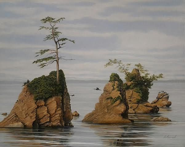 Oil painting Offshore $1400.00 by Vicki Beamish
