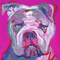Acrylic painting Ruby by Lisa Printz