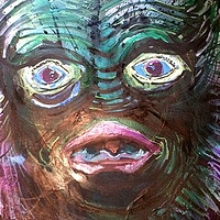 Mixed-media artwork thecreature by Joey Feldman