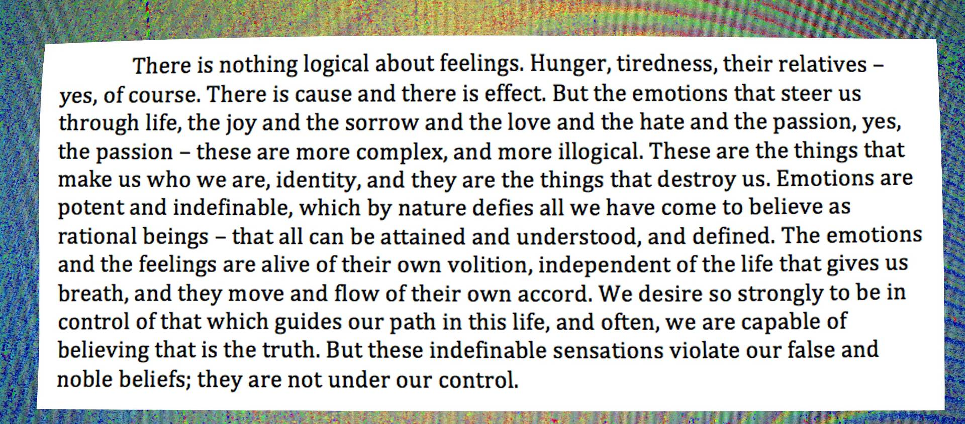 emotions and feelings pt.1 by Evan Fowler