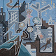 City Tightrope 2003 40x40 by Jeffrey Fine