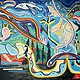Painting Mooselook Moondance 2001 36x60 by Jeffrey Fine