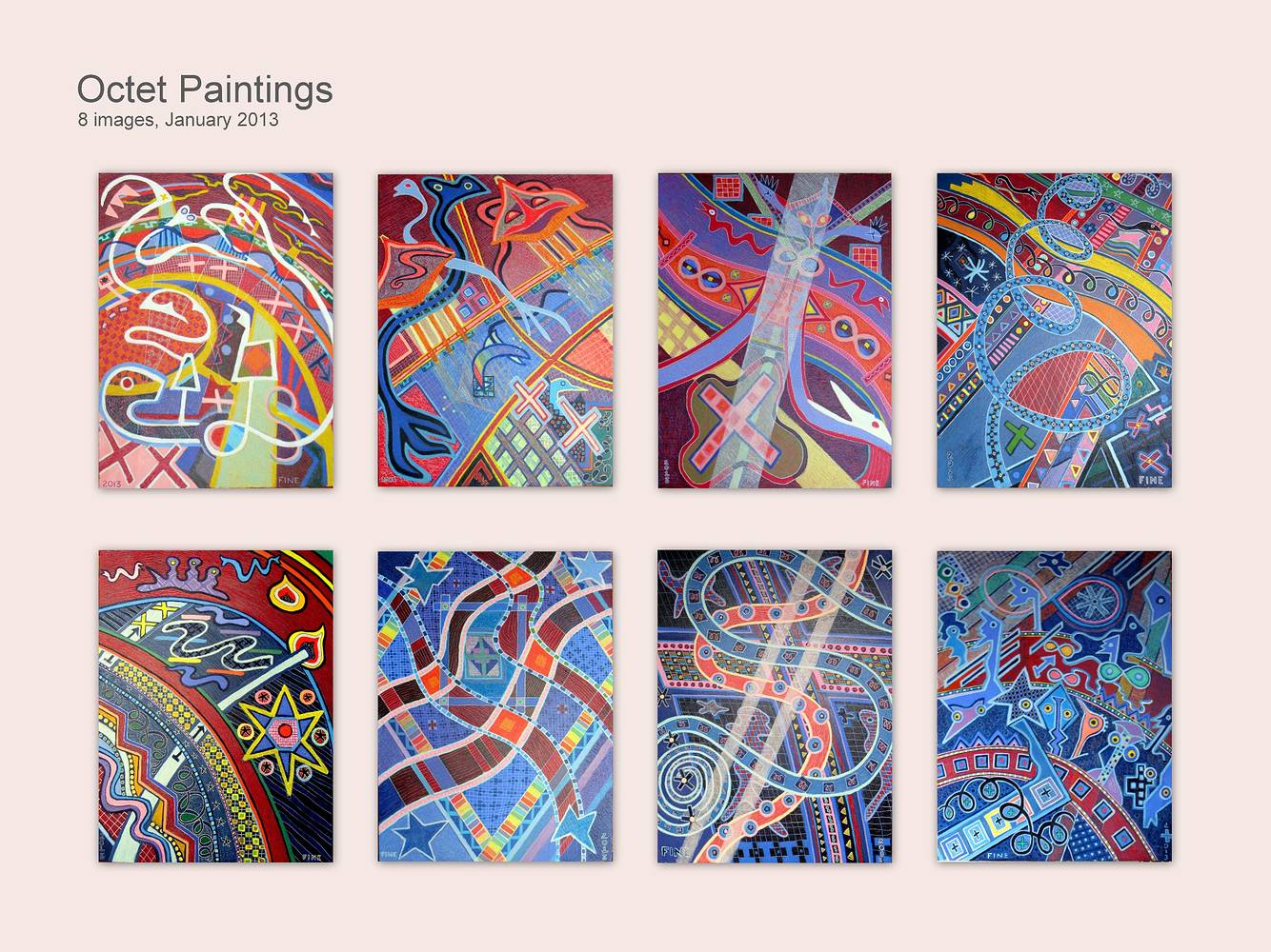 Octet Paintings 2012 8-48x36 by Jeffrey Fine