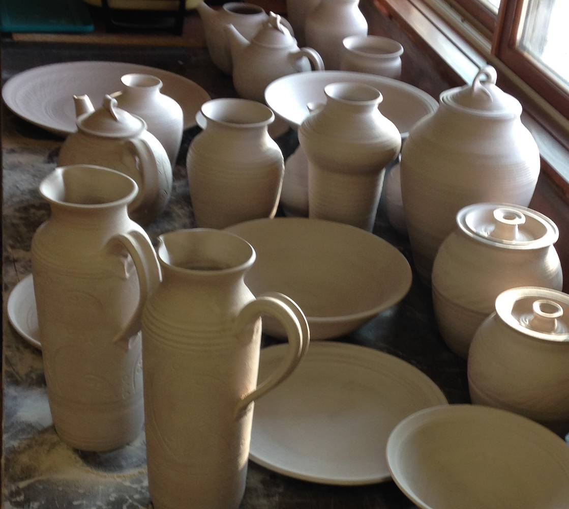 Feb 2015  Restocking the studio shelves by Elaine Clapper