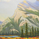 Oil painting Mount Rundle by Brent Ciccone