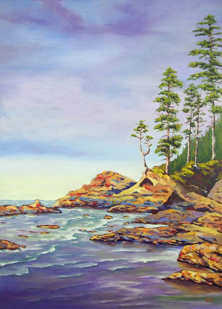 Oil painting Ocean Witness by Brent Ciccone