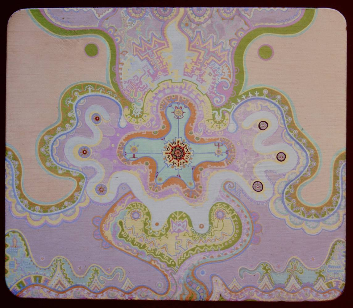 Mandala-    Fire on Water  1974,  26x23 by Jeffrey Fine