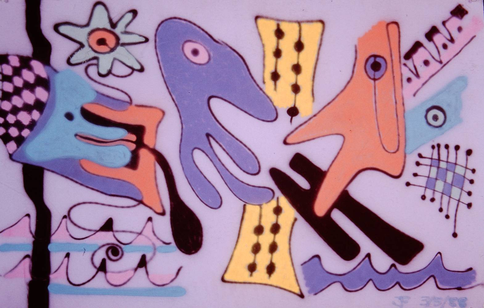 Painting Couples Therapy 1988 28x44 by Jeffrey Fine