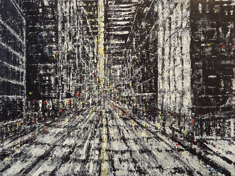 Acrylic painting Urban Matrix No. 4  by David Tycho