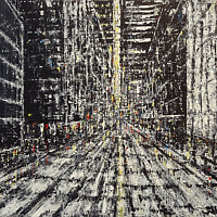 Acrylic painting Urban Matrix #4  by David Tycho