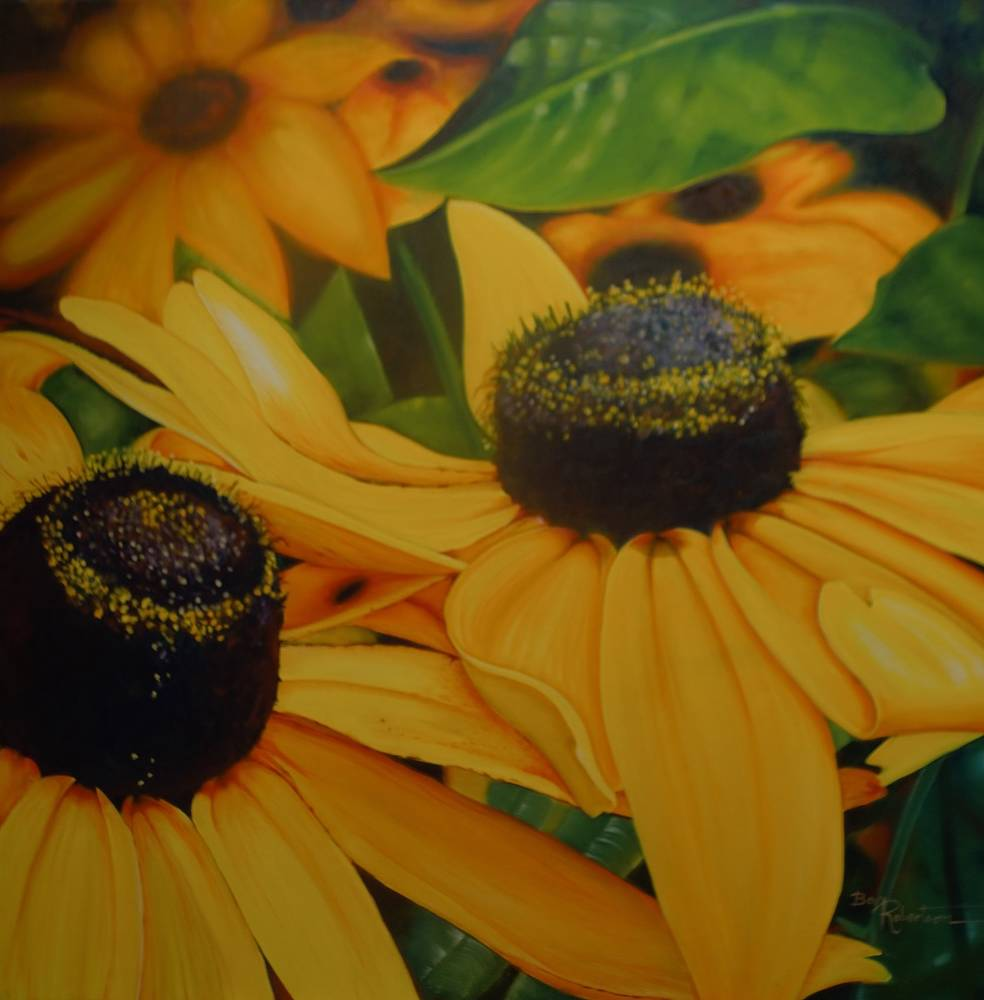 Oil painting You are My Sunshine by Bev Robertson