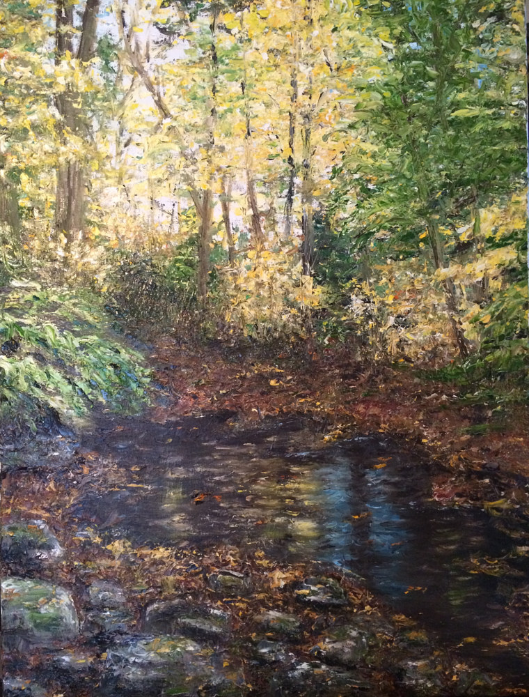 Oil painting Strait Place by Yvonne Shaffer