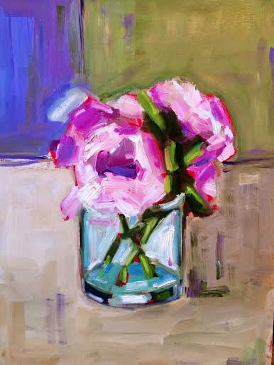 Oil painting Flowers Study by Sarah Trundle