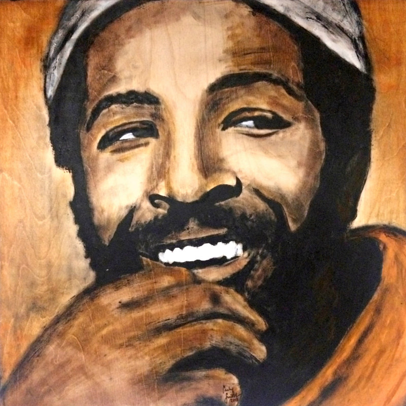 Oil painting Marvin Gaye by Carly Jaye Smith