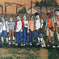 Oil painting Sandlot by Carly Jaye Smith