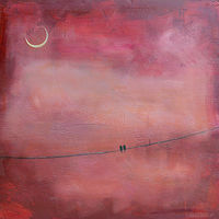 Acrylic painting Blushing Sky by Sally Adams