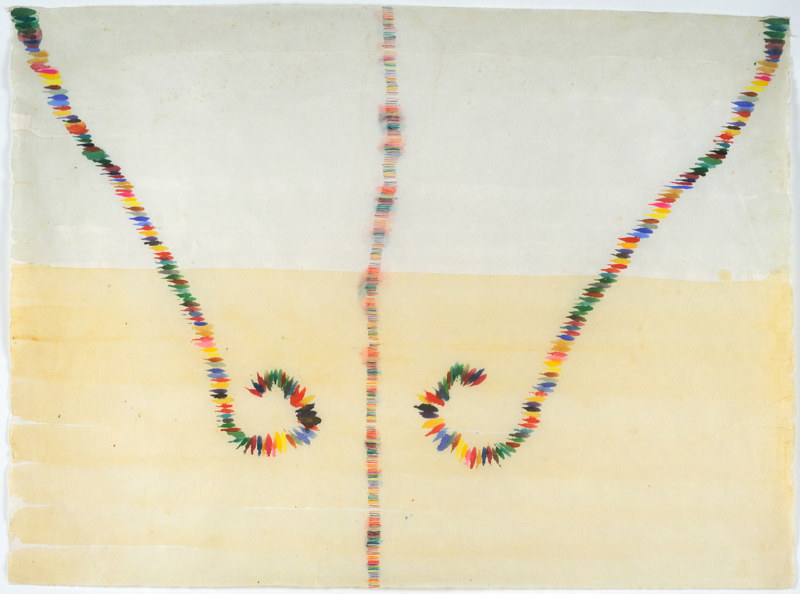 "Travel Lines: 17"" x 21"", watercolor on rice paper, 2010 by Judy Southerland"
