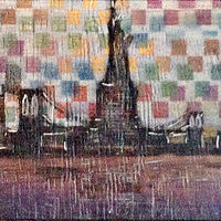 Acrylic painting Big City Lights by Carly Jaye Smith